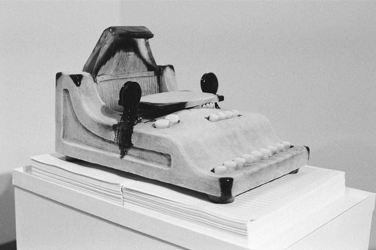 "Claudia Märzendorfer ""music typewriter"", Foto: Lisa Mathis, CM"